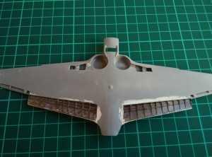 Установленные внутренние части крыла